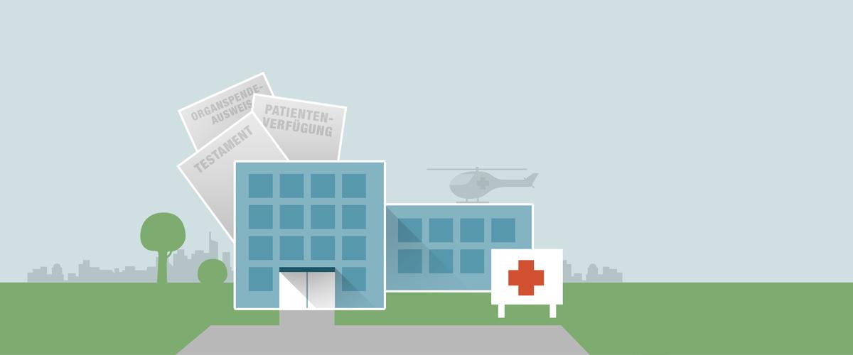 Notfall - Patientenverfügung - Testament immer griffbereit